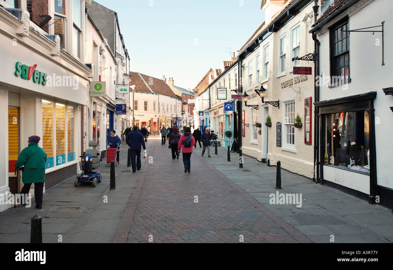 High street in Beverley town centre, East Yorkshire, UK - Stock Image