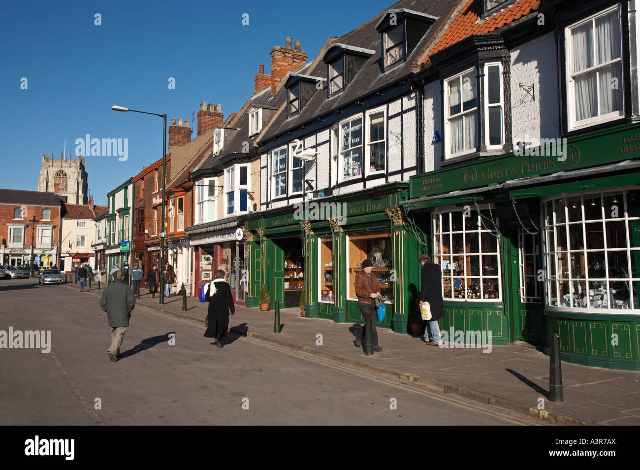 Shopping in the Market Town of Beverley, East Yorkshire, UK Stock Photo