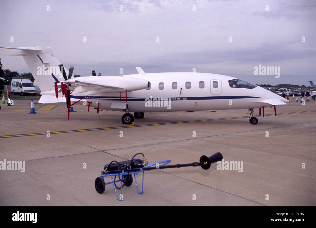 Italian Piaggio P180 Avanti is a twin-engine business aircraft - Stock Image