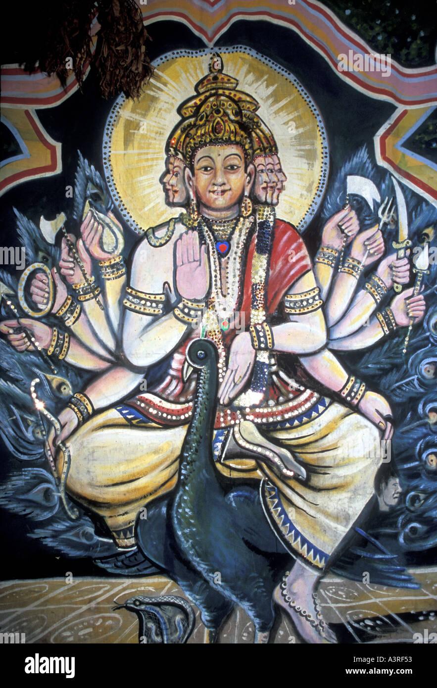 HINDUISM Lord Vishnu creator and guardian of the Universe - Stock Image