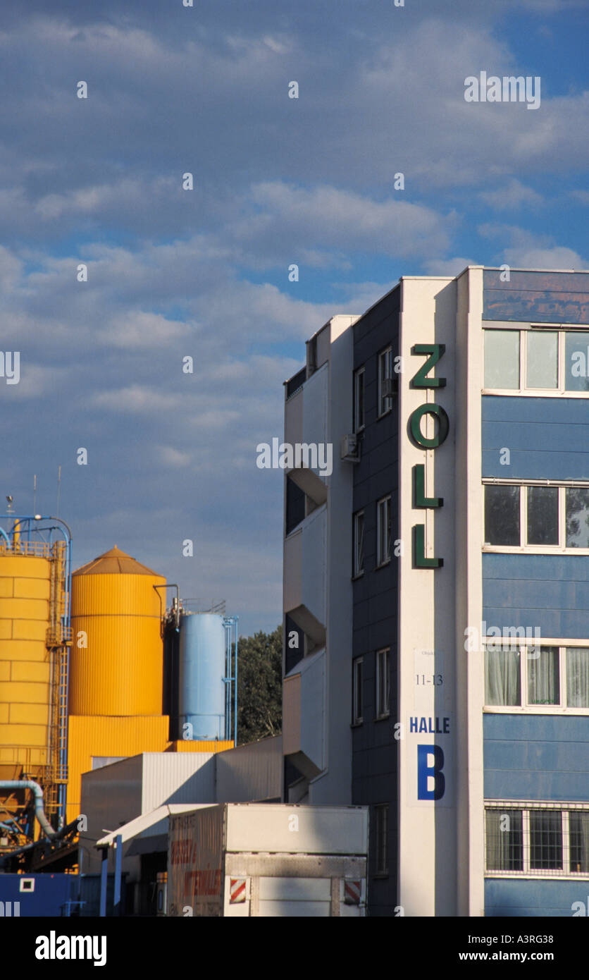 Custom house at Alberner Hafen Viennese harbour Stock Photo
