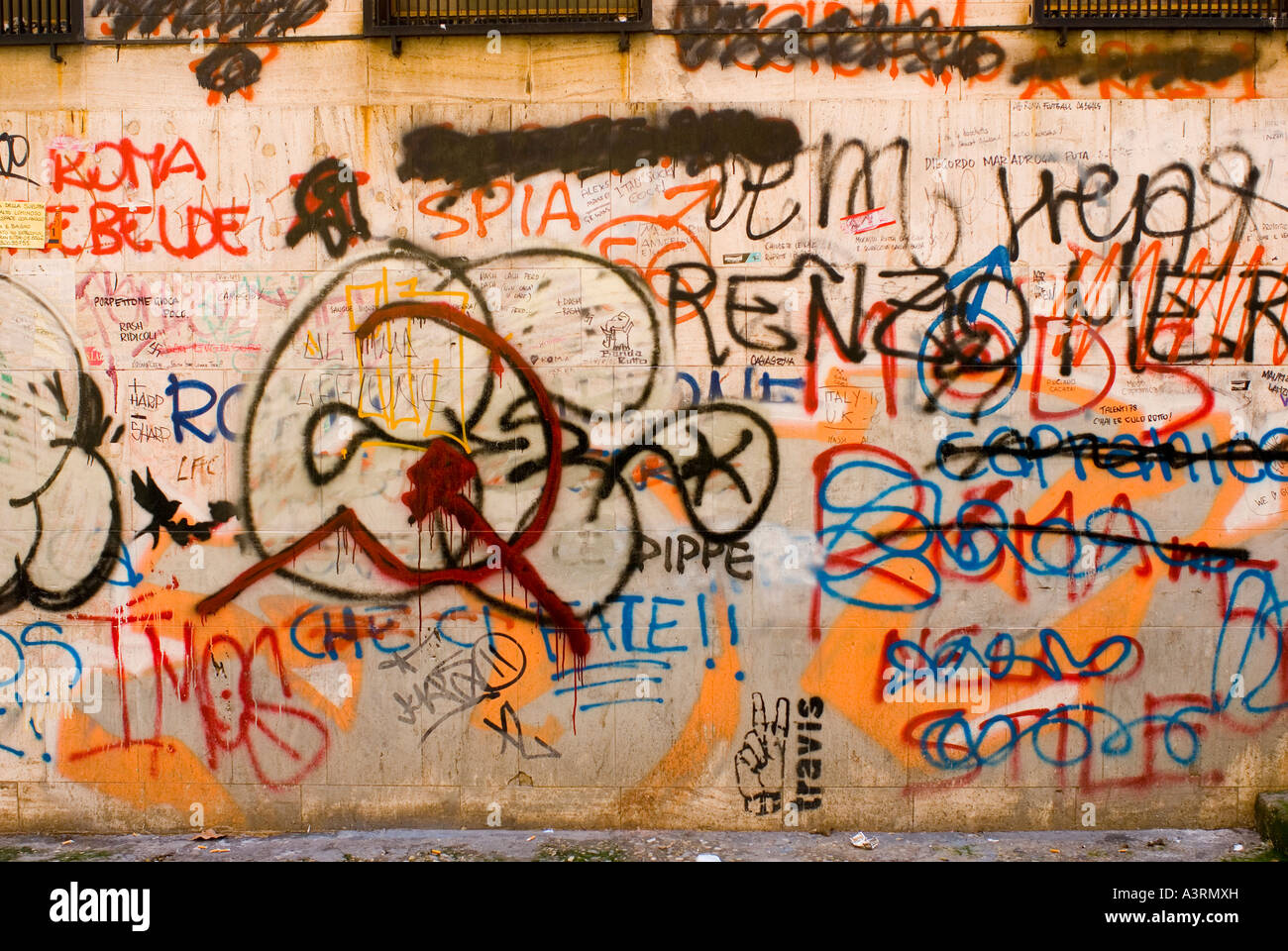 Rome italy graffiti