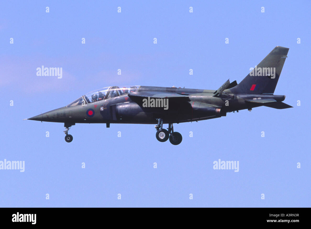 Alpha Jet aircraft in RAF markings operated by QinetiQ Boscombe Down - Stock Image
