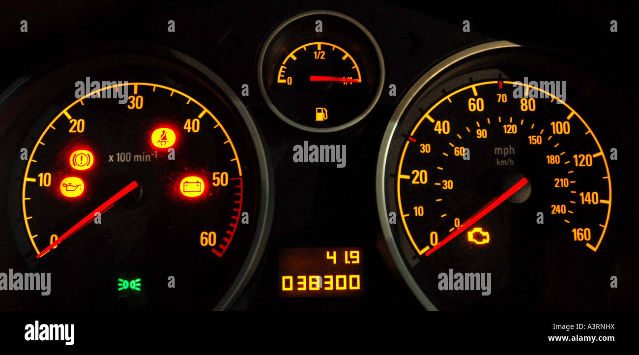 Car Dashboard Lights High Resolution Stock Photography And Images Alamy