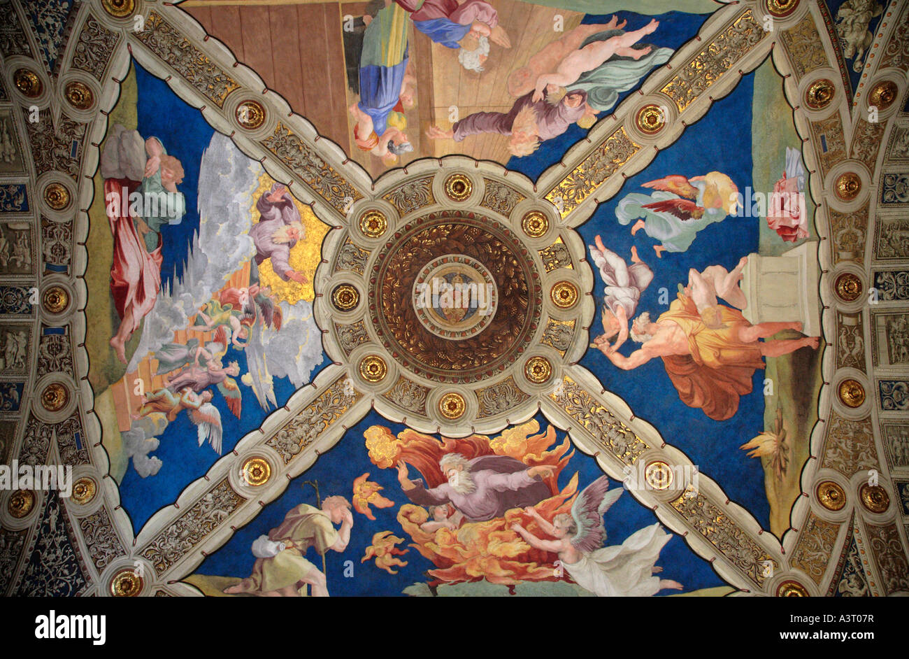 Ceiling Of The Room Of Heliodorus In The Vatican Museum