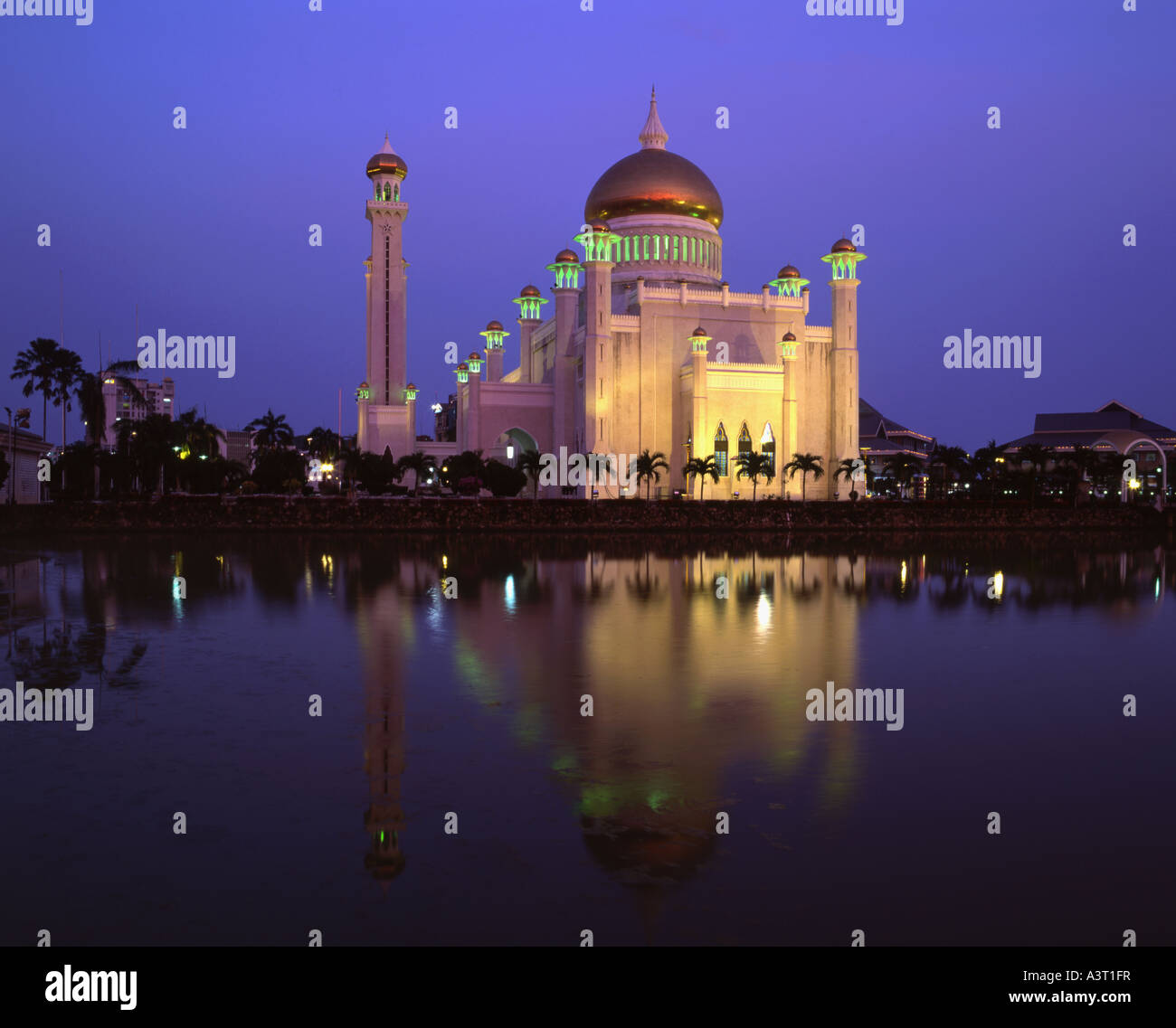 Omar Ali Saifuddin Mosque in Bandar Seri Begawan Brunei - Stock Image