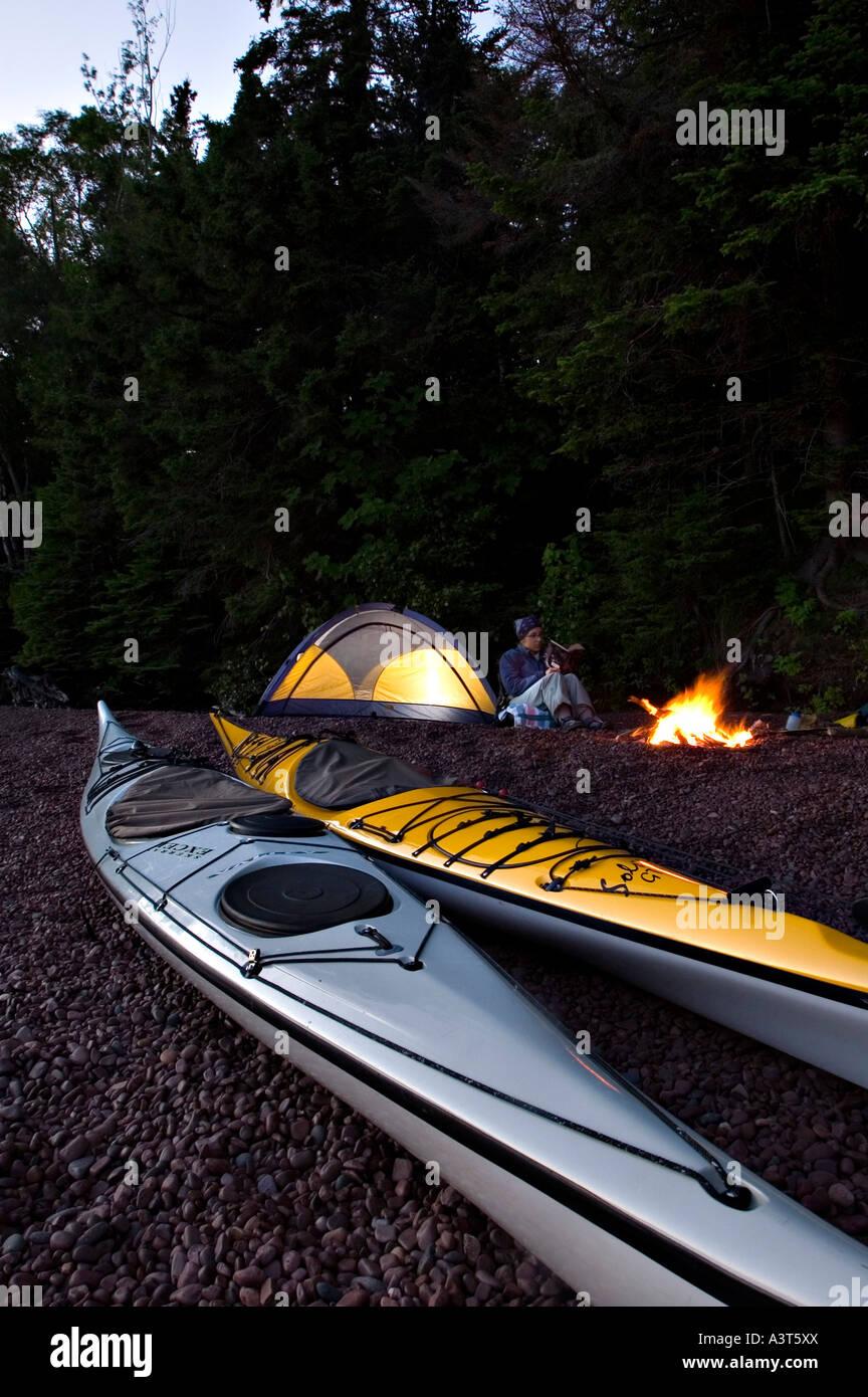 Sea Kayak Camping Lake Superior Keweenaw Peninsula Copper Harbor Michigan Upper