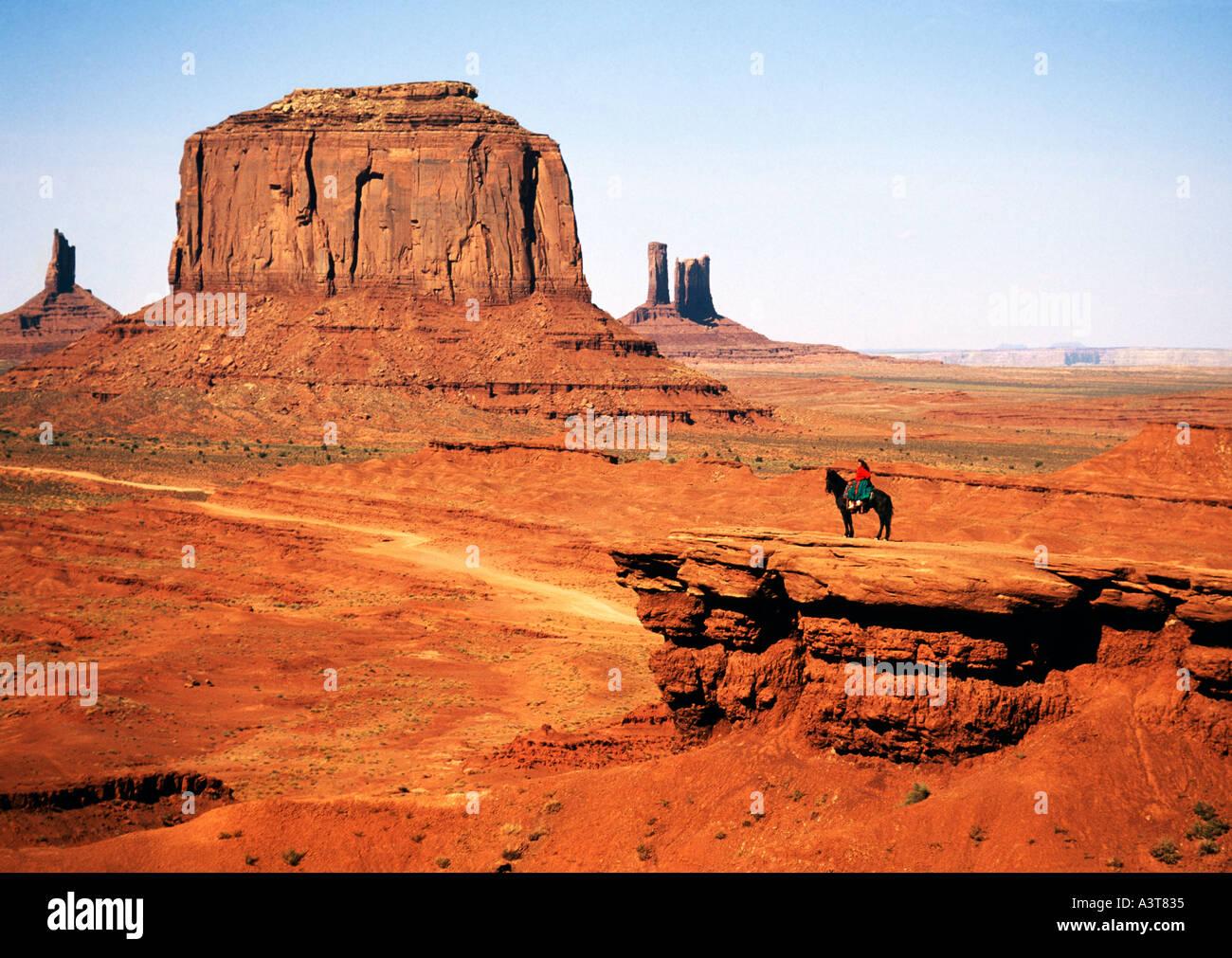 United States of America, Utah, Arizona, Monument Valley, Navajo Tribal Park - Stock Image