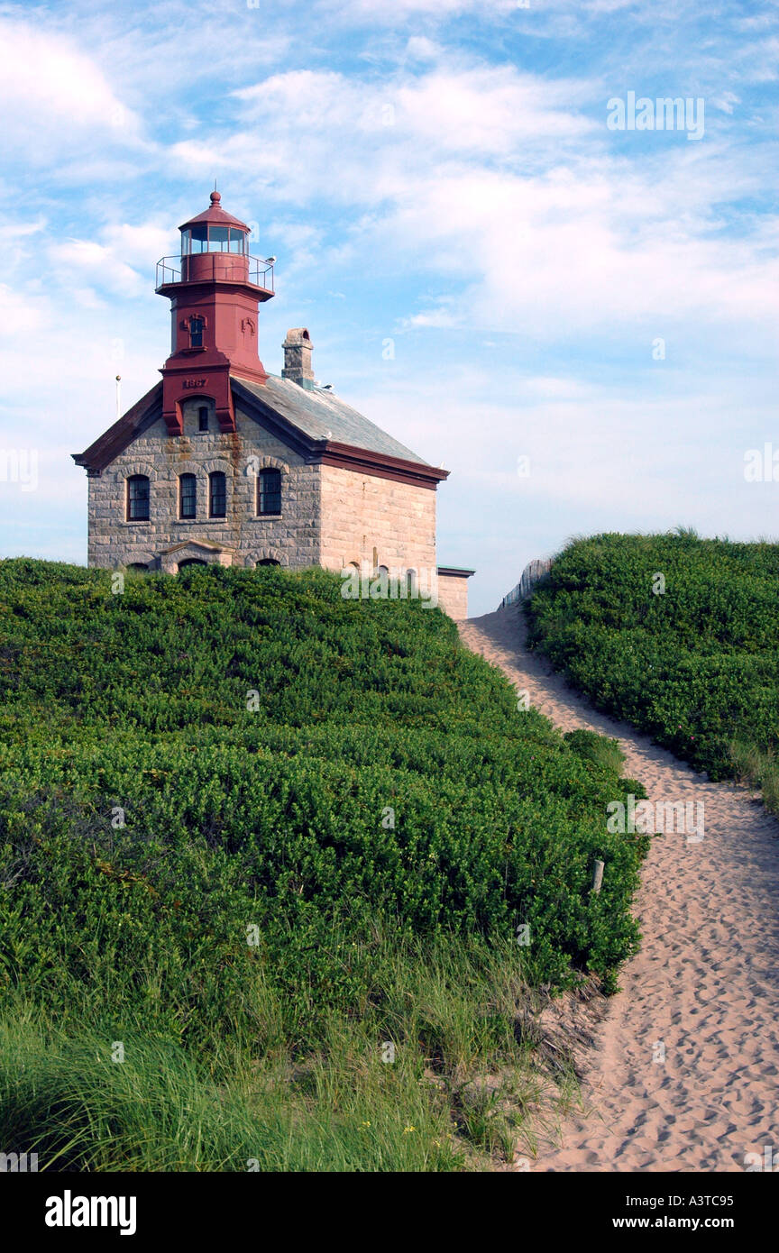 'North Lighthouse' 'Block Island' 'Rhode Island' - Stock Image