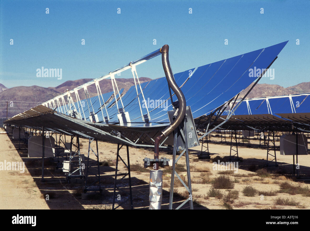 Solar Panels, California USA - Stock Image