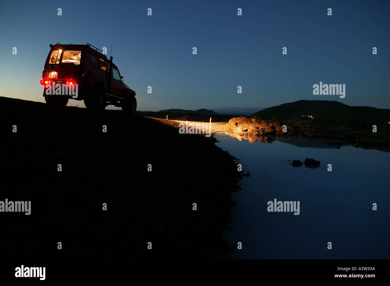 Super jeep off roading, Iceland - Stock Image