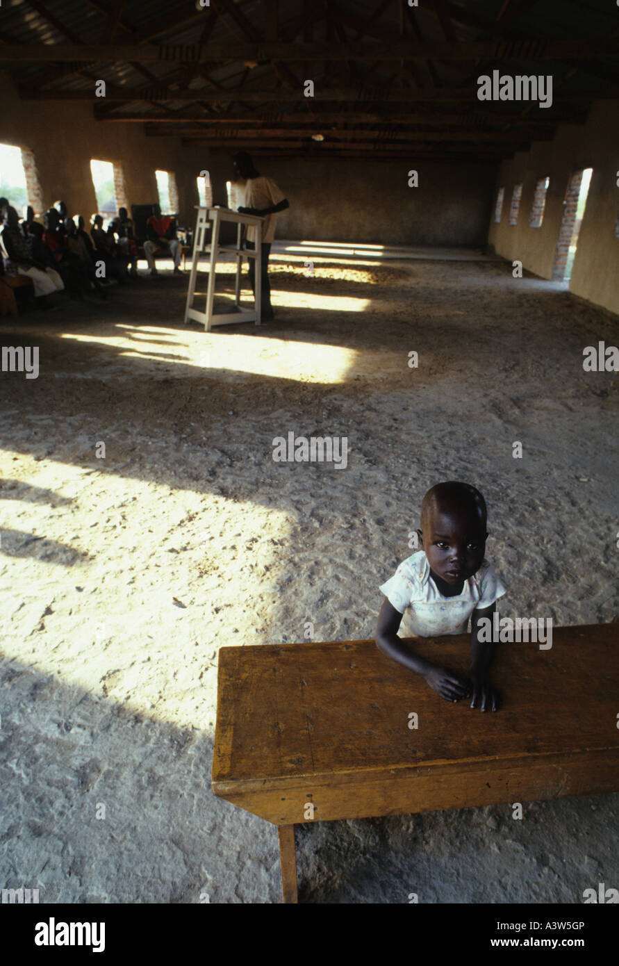 orphanage southern sudan - Stock Image