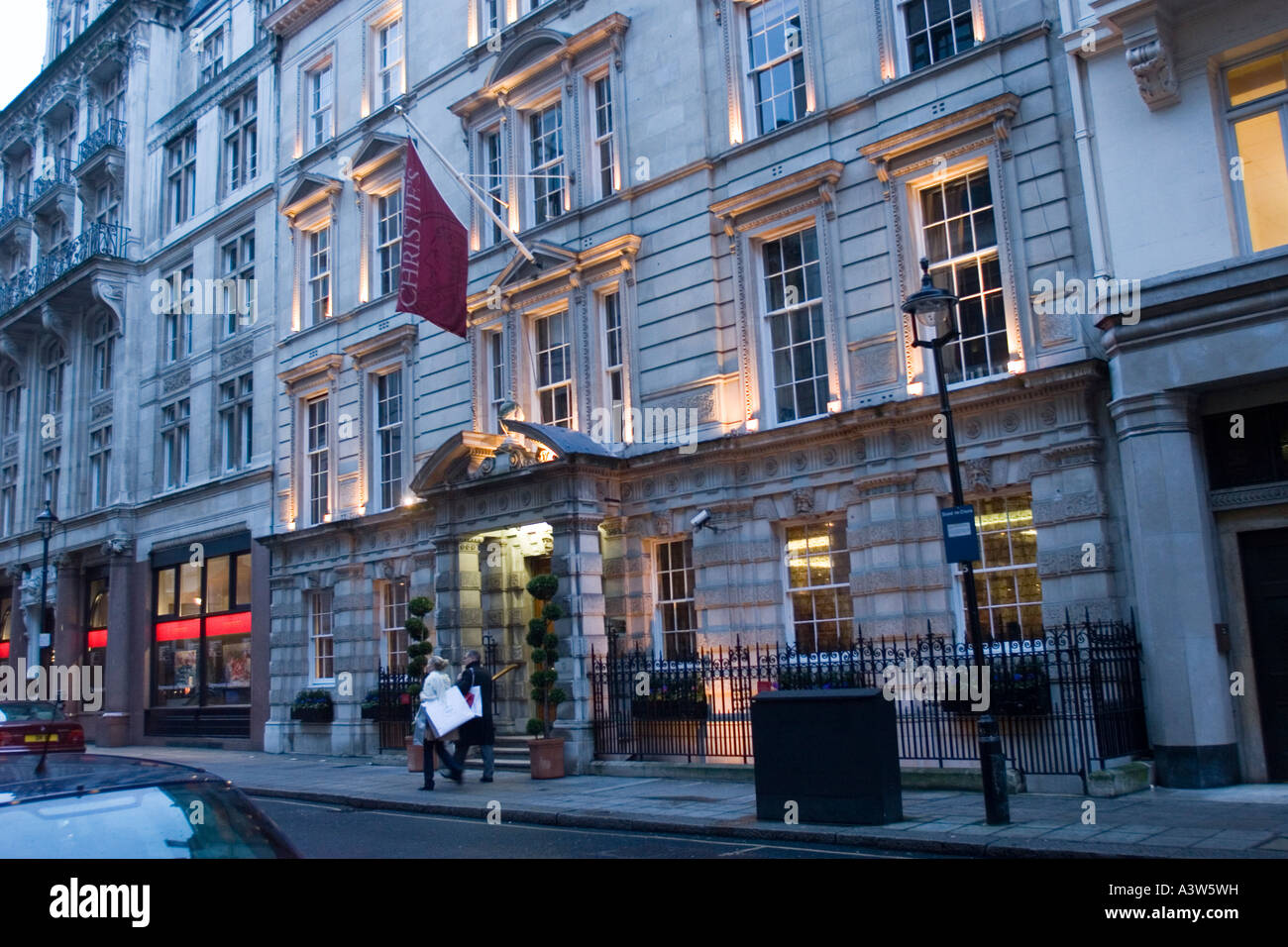 Exterior of Christies Auction house in St James London GB UK - Stock Image