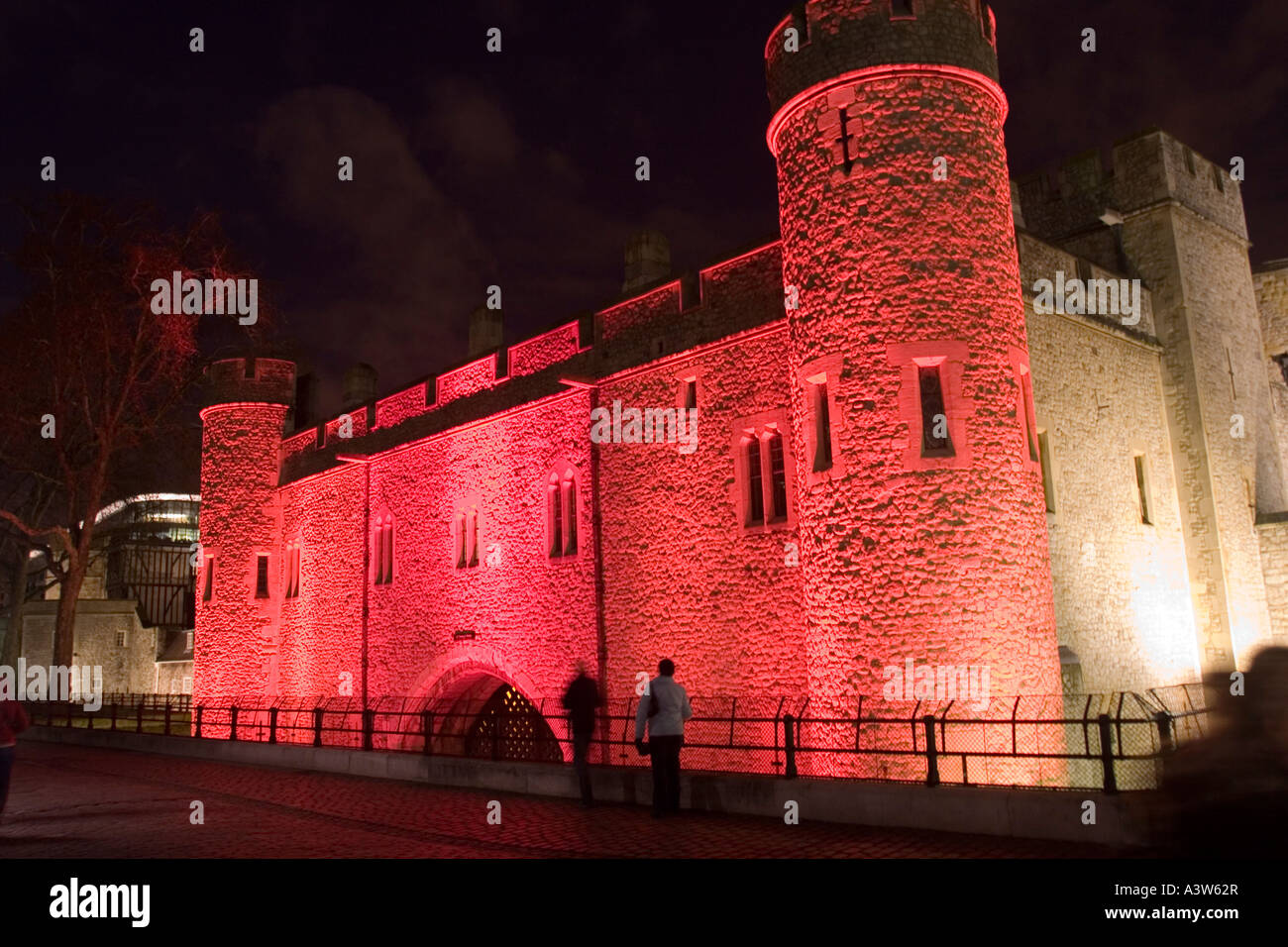 Traitors Gate, Tower of London illuminated for Switched On London 2007 - Stock Image