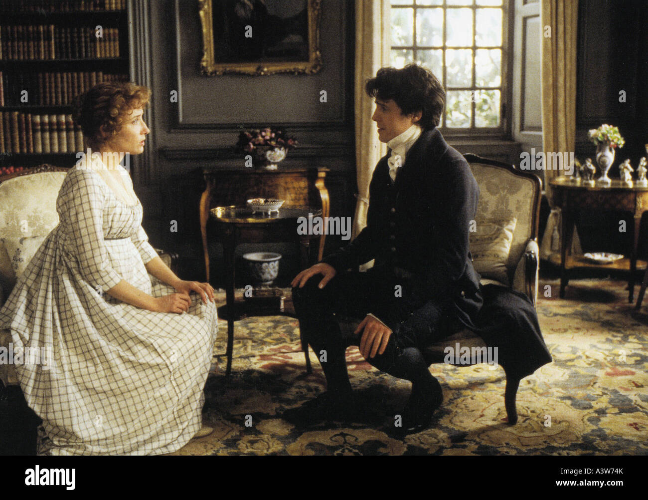 SENSE AND SENSIBLITY 1995 Columbia film with Emma Thompson and Hugh Grant - Stock Image
