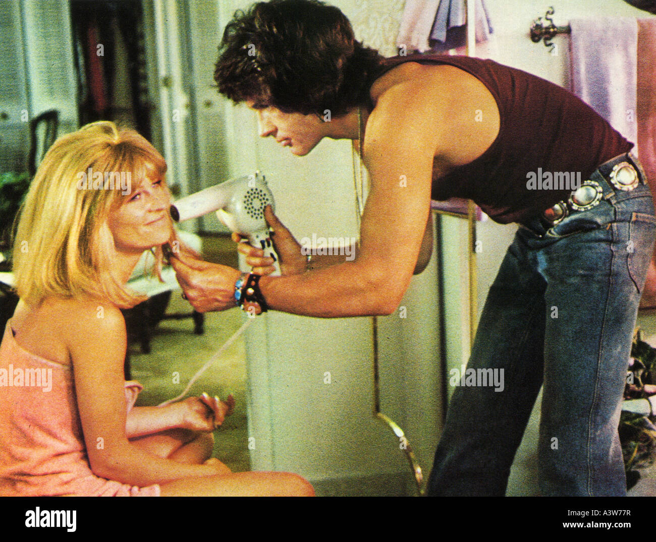 SHAMPOO 1975 Columbia film with Warren Beatty  and Julie Christie - Stock Image