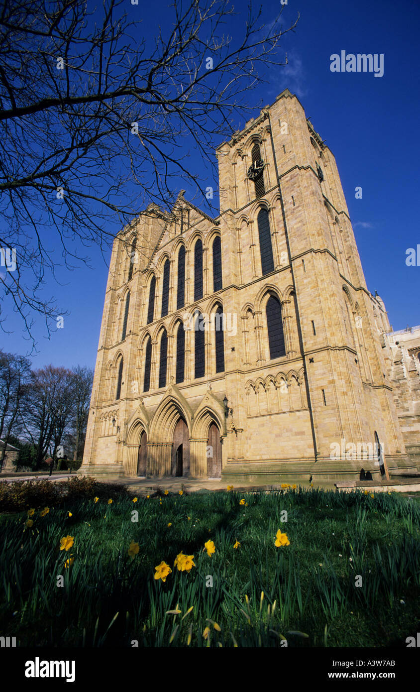 ripon catherdal founded in 672 by saint wilfrid parts of which still exist ripon yorkshire uk - Stock Image