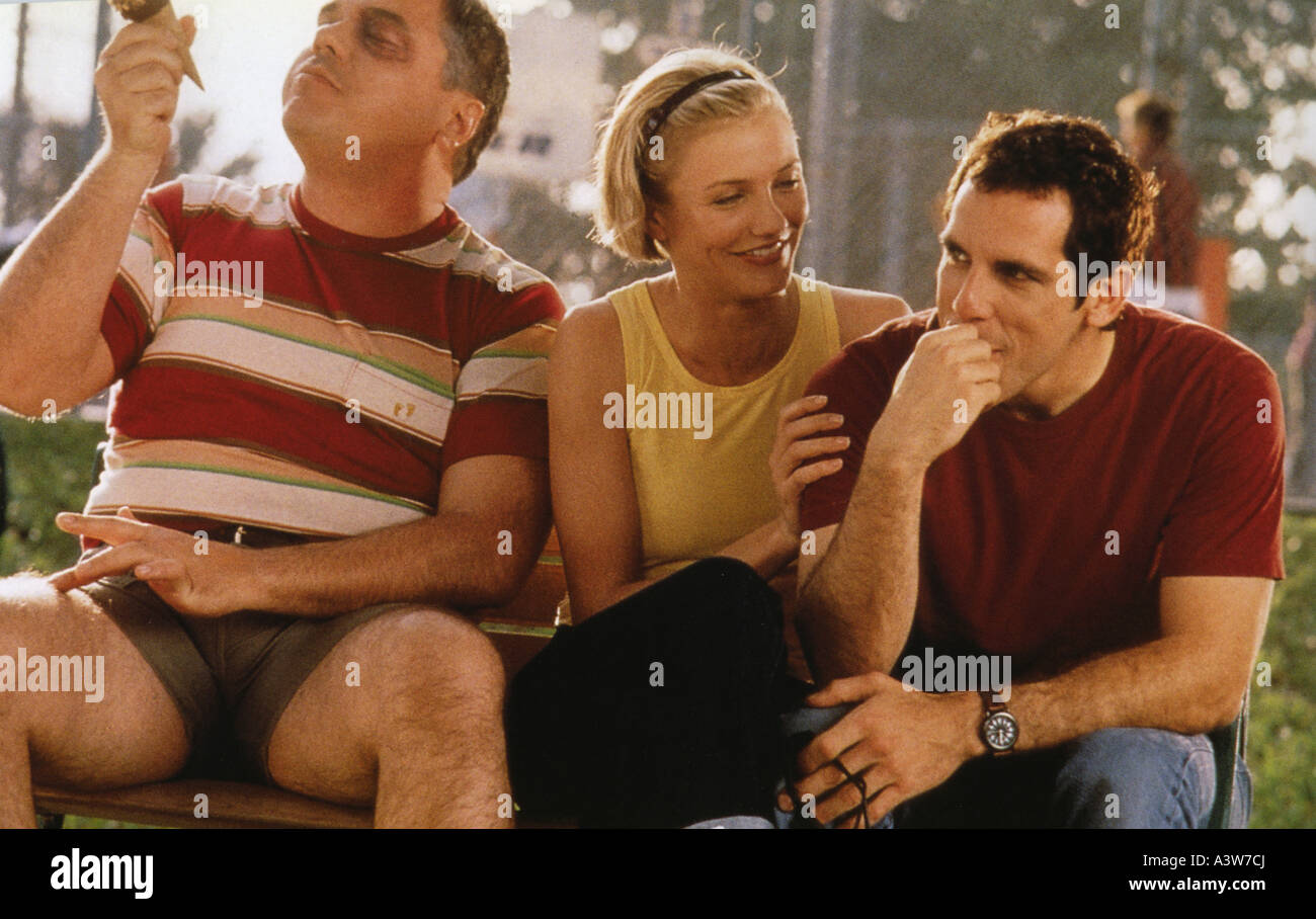 THERE'S SOMETHING ABOUT MARY 1998 TCF film with Cameron Diaz and Ben Stiller (at right) - Stock Image