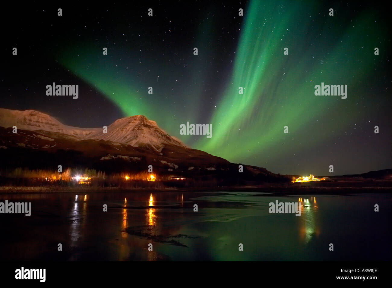 Aurora Borealis, Northern Lights, Iceland - Stock Image