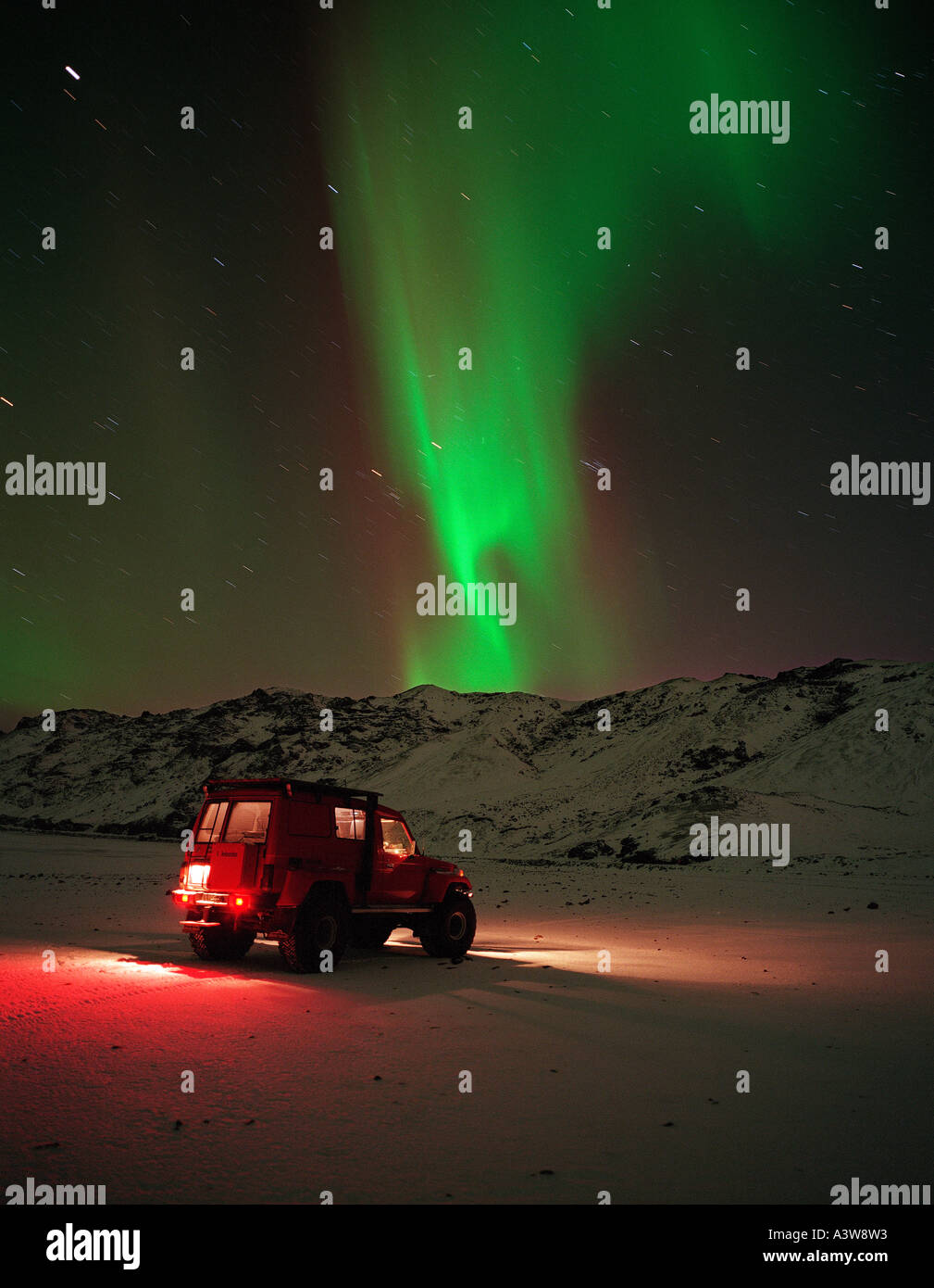 Aurora Borealis, Northern Lights, Iceland Stock Photo