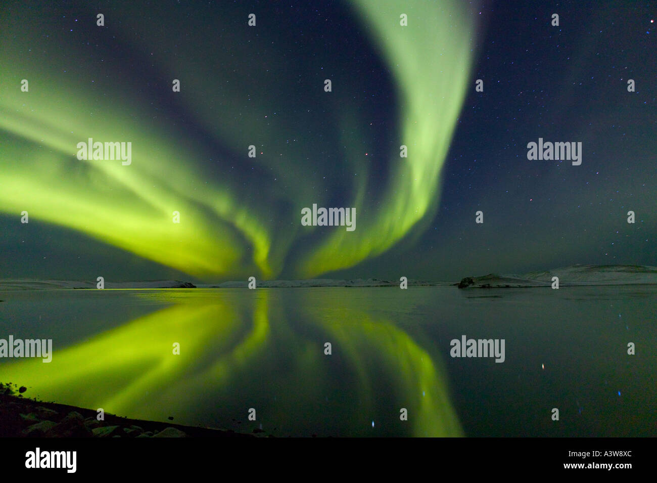 Aurora Borealis, Northern Lights, Iceland - Stock Image