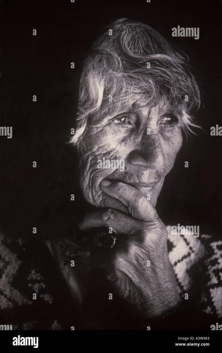 Old Maori Women: Old New Zealand Maori Woman Stock Photo: 2021859
