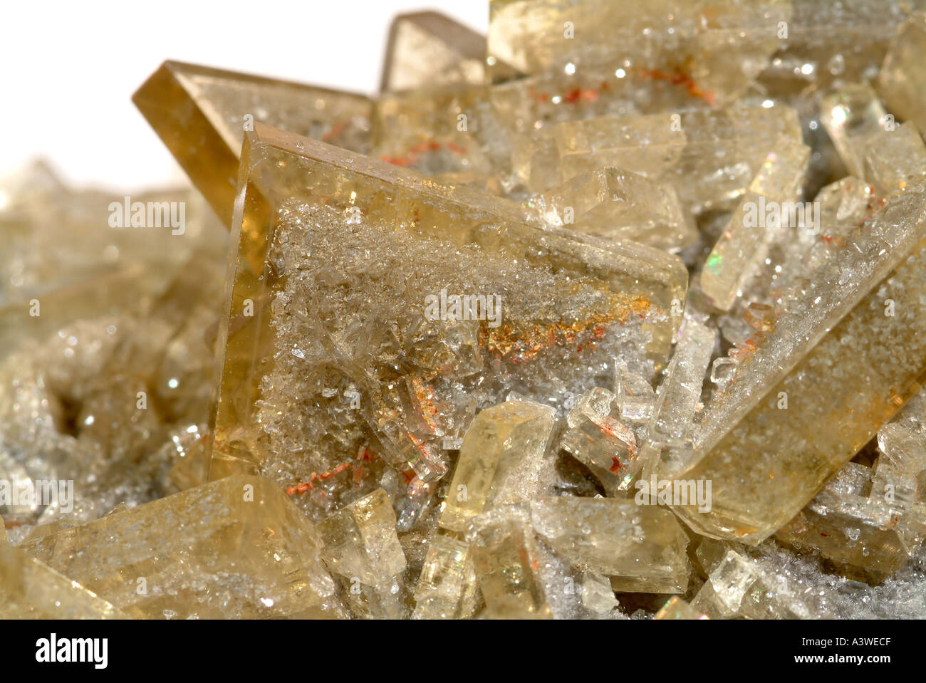 Mineral Baryte, Pack Rat Mine, Carbon County, Montana, USA - Stock Image