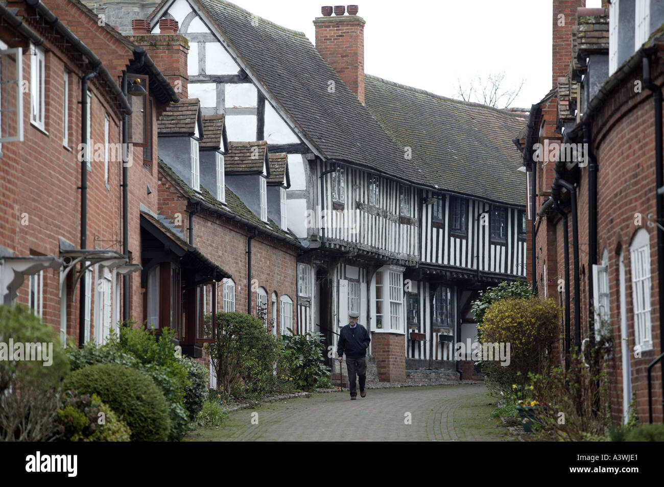 Malt Mill lane in the Warwickshire town of Alcester England