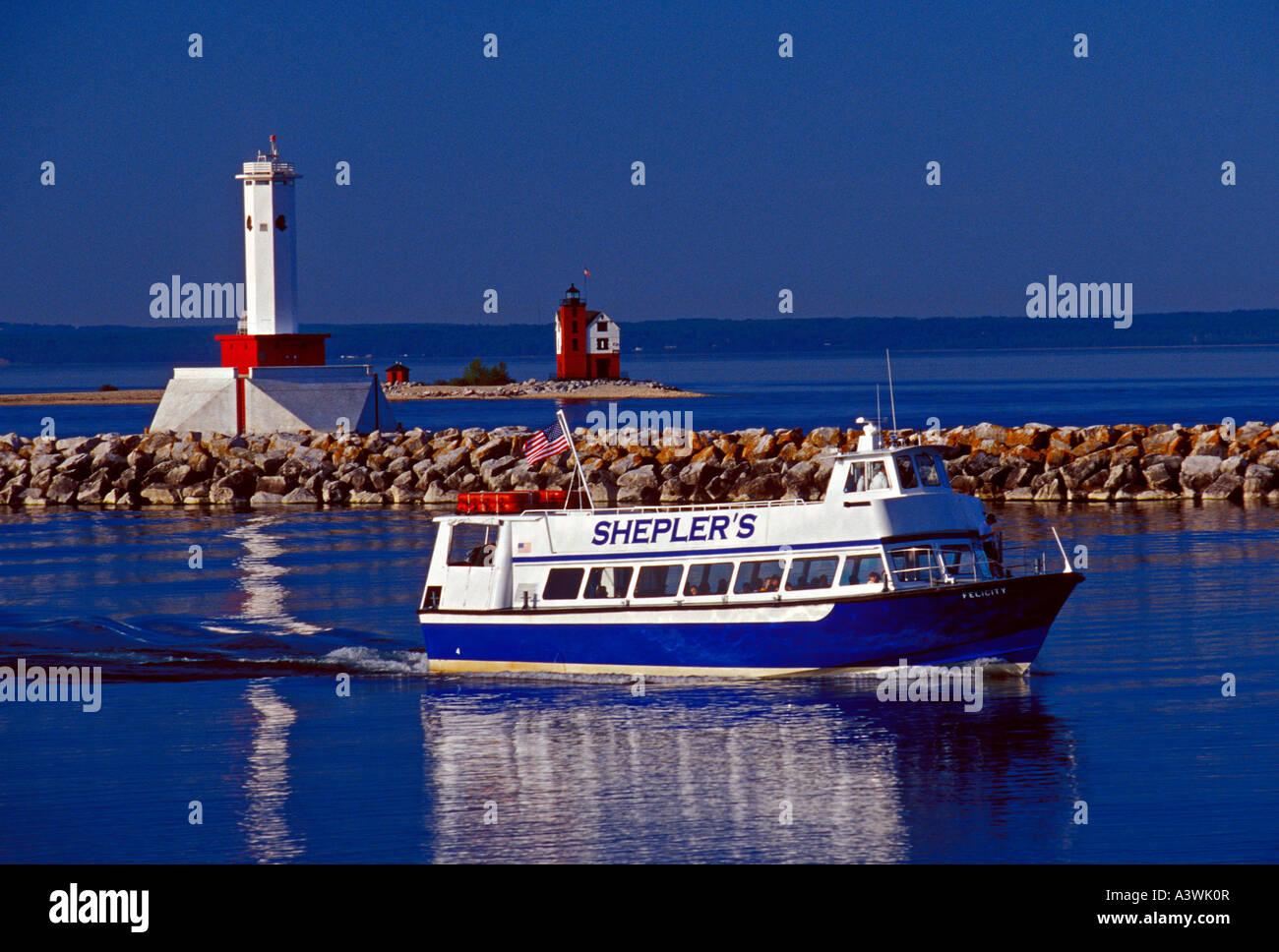 Round Island Lighthouse On Ferry
