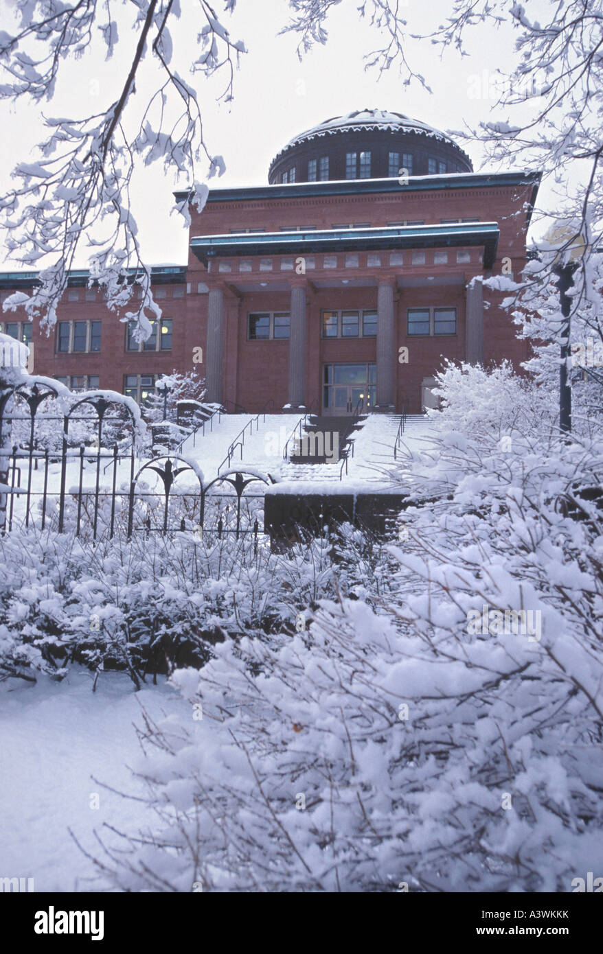 The Marquette County Courthouse is seen following a snowstorm - Stock Image