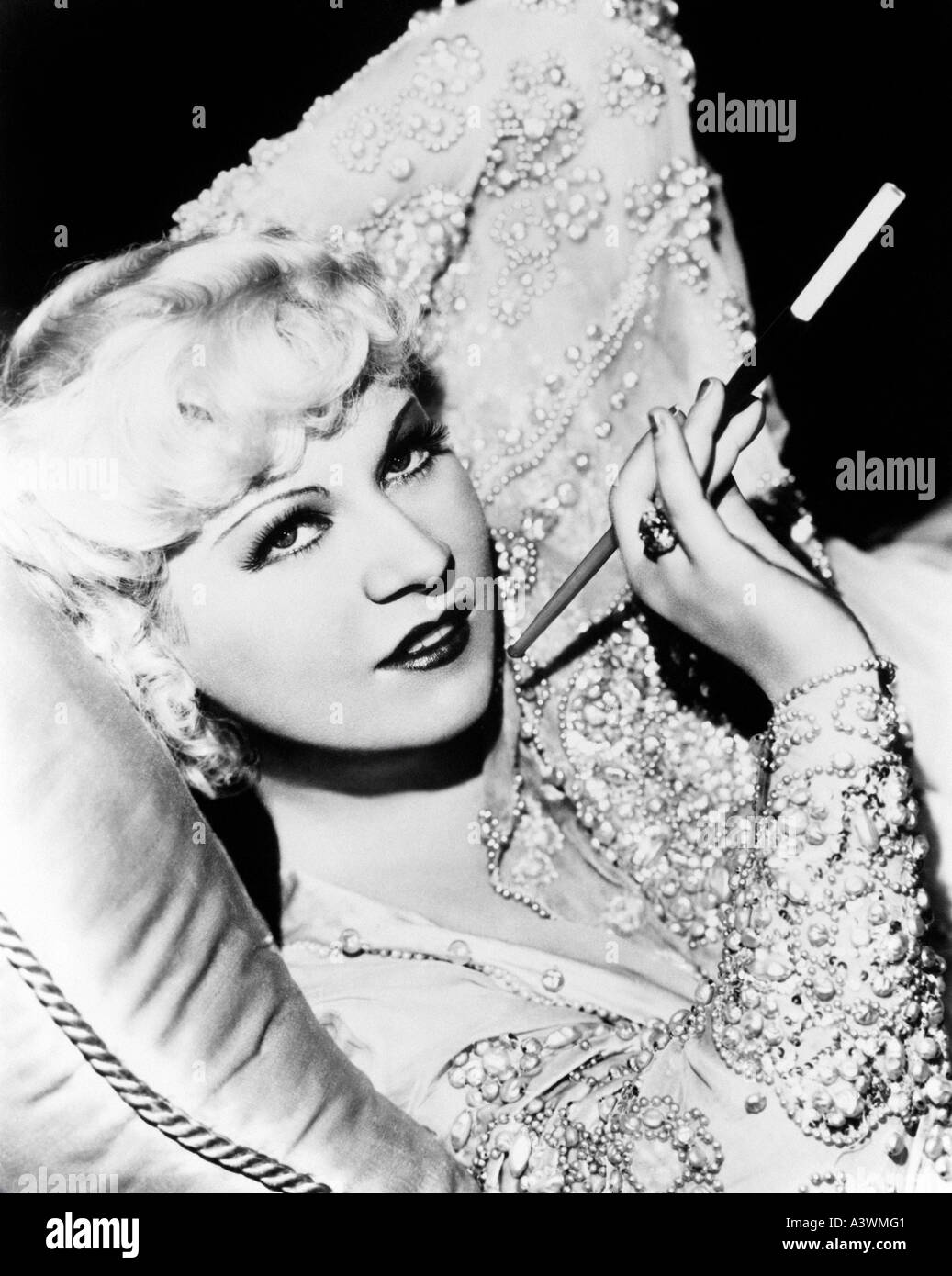 MAE WEST  - US actress 1892 to 1980 - Stock Image