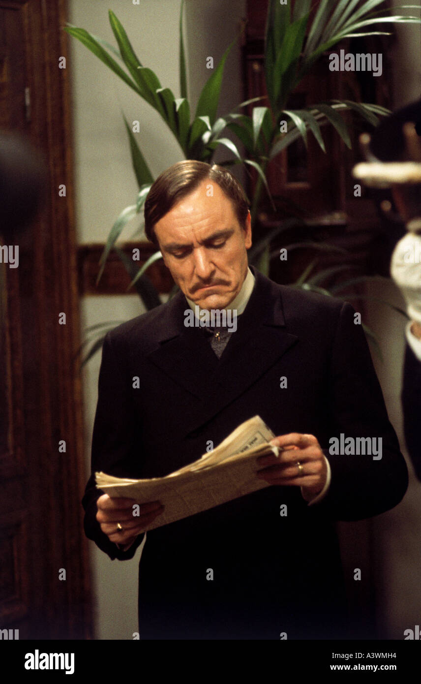 FORSYTE SAGA Eric Porter as Soames in the 1967 BBC TV adaption of Galsworthy s novel - Stock Image