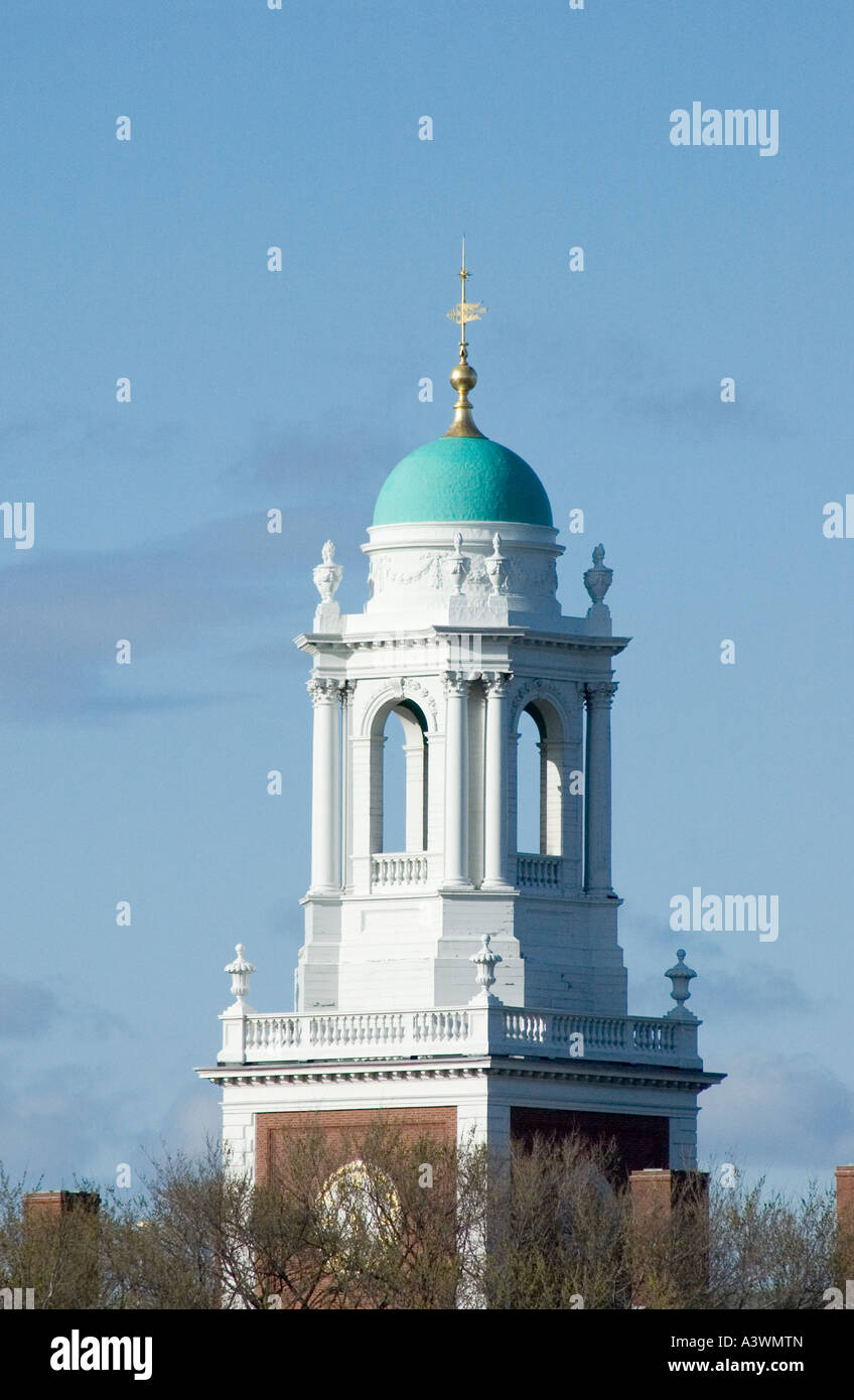 Belltower at Harvard Universtiy in Cambridge Massachusetts - Stock Image