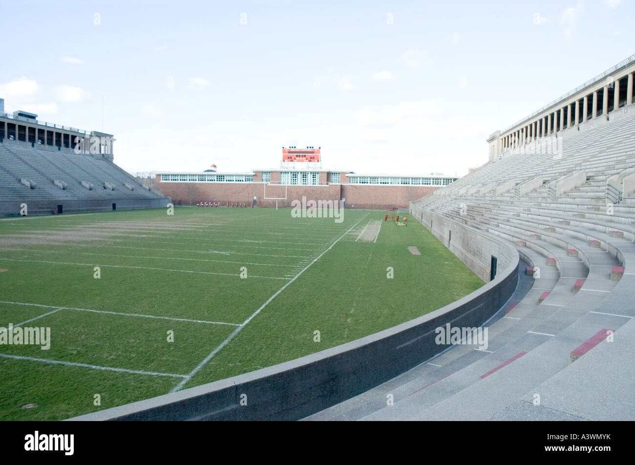Harvard Stadium in Harvard University - Stock Image