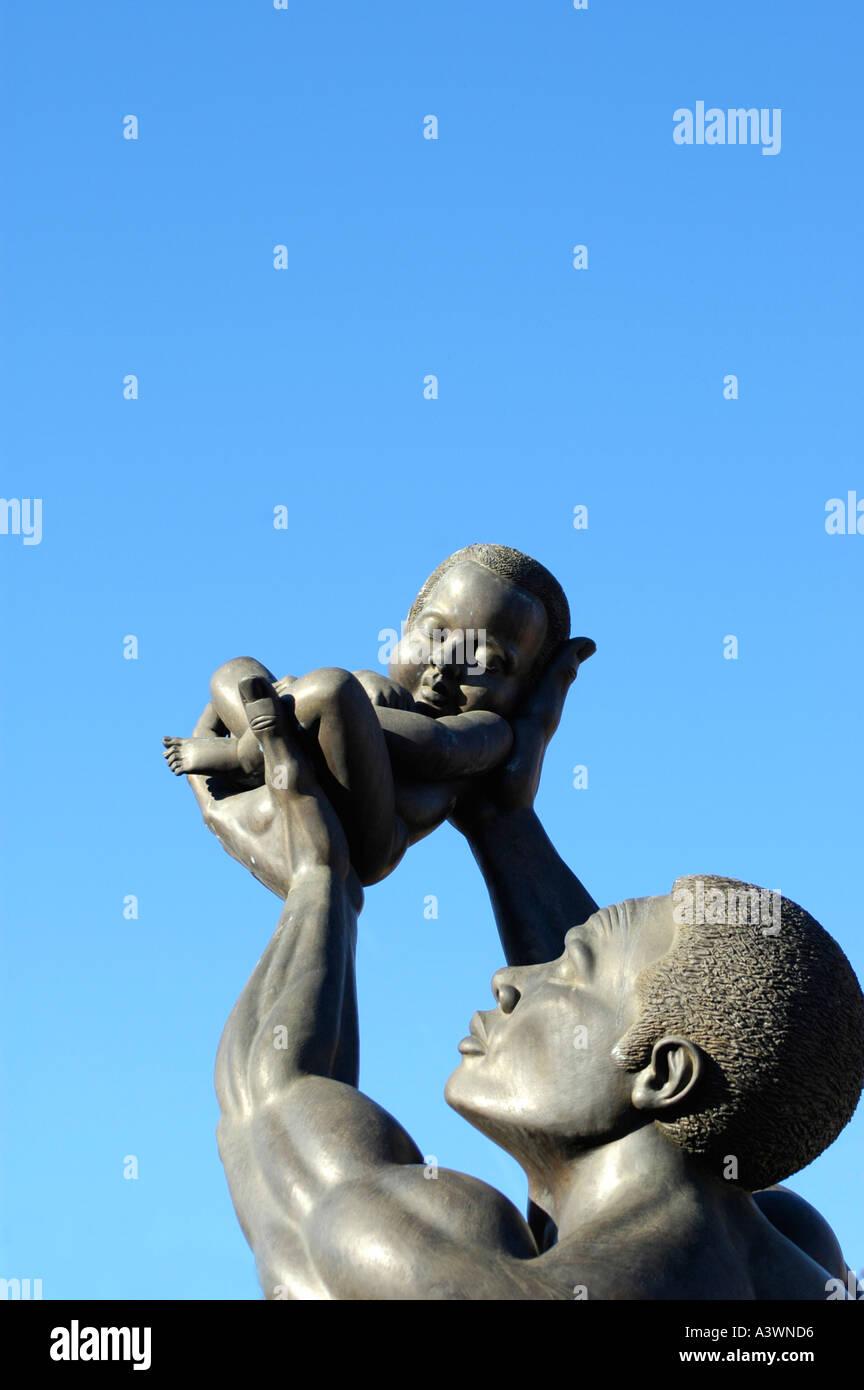 the MLK Center for Non Violence in Atlanta on Auburn Avenue - Stock Image