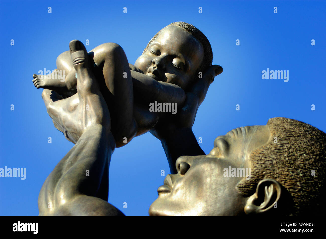 MLK Center for Non Violance in Atlanta on Auburn Avenue - Stock Image