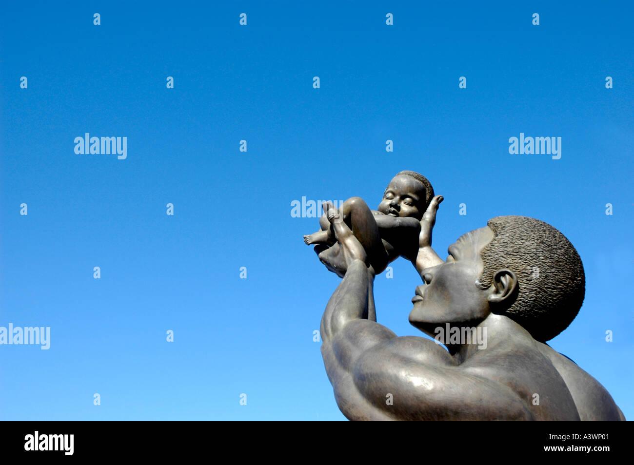 the MLK Center for Non Violance in Atlanta on Auburn Avenue Hands - Stock Image
