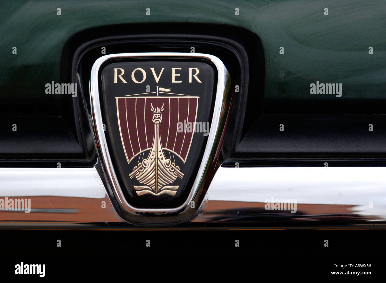 Rover car badge - Stock Image