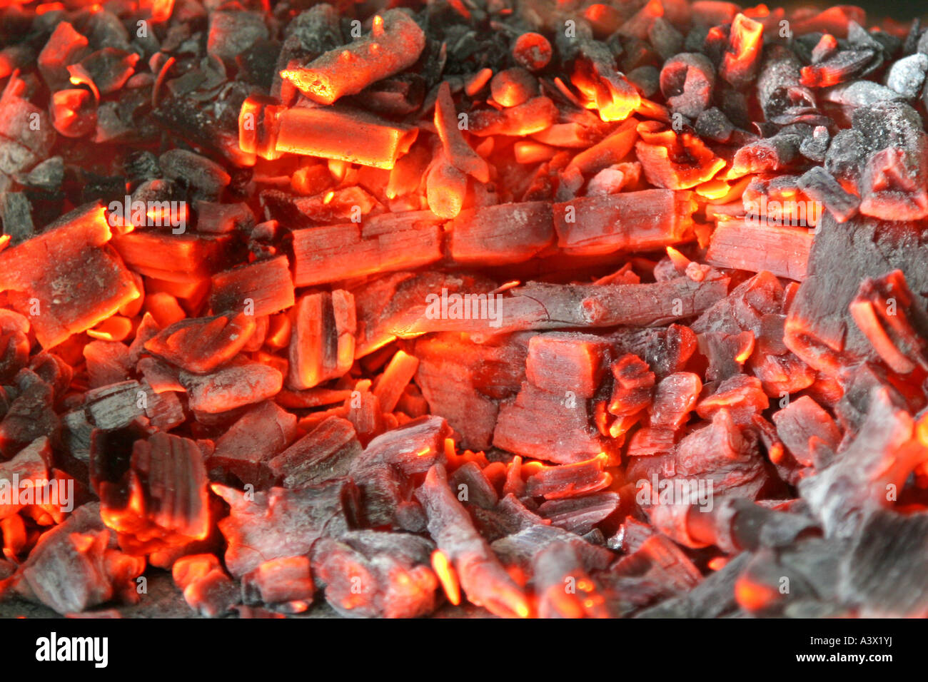 Coal And Wood Ash From Burning In An Oven Stock Photo