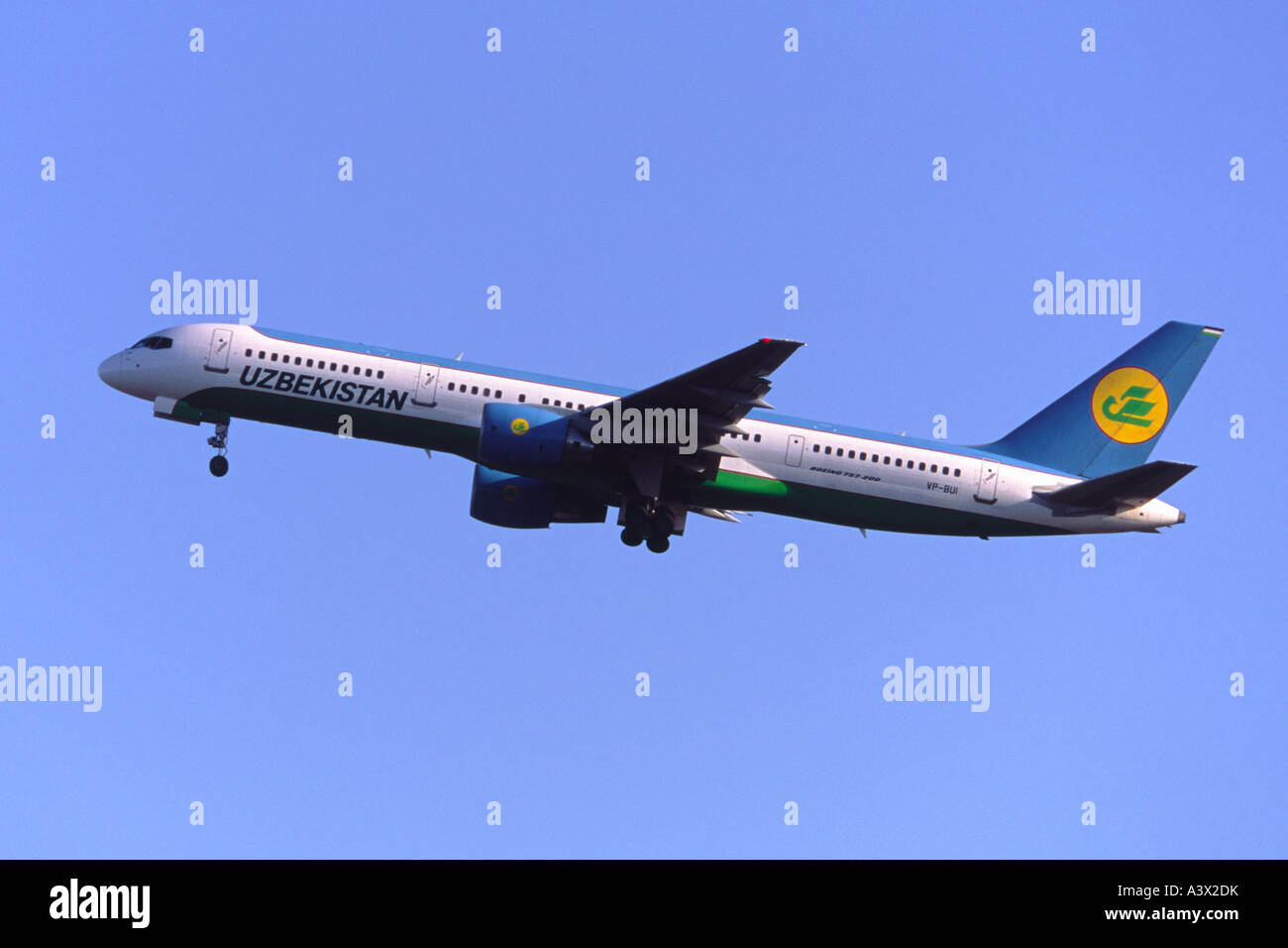 Boeing 757 operated by Uzbekistan Airways - Stock Image