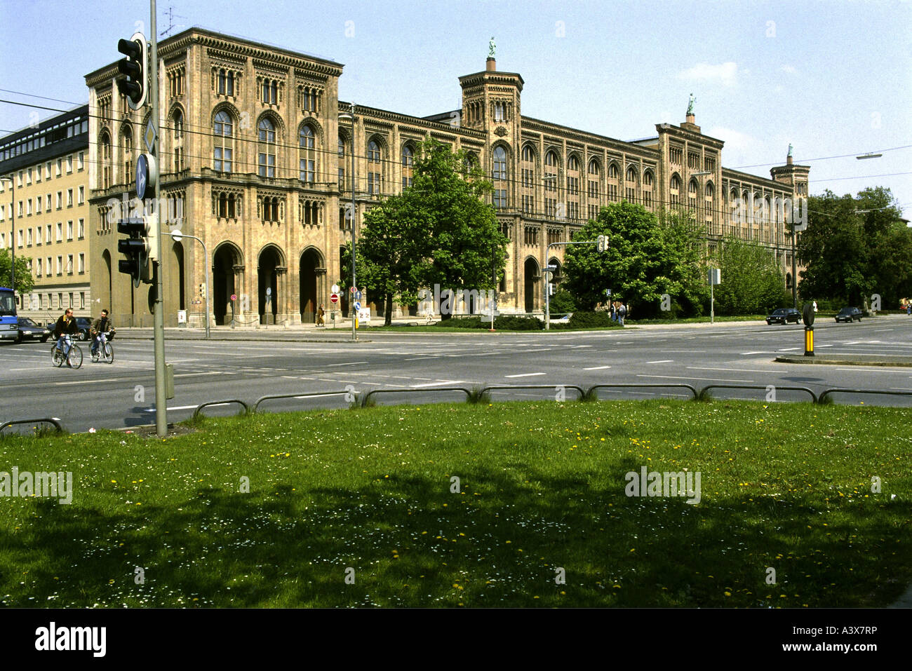 geography / travel, Germany, Bavaria, Munich, buildings, Regierung von Oberbayern, exterior view, architect: Friedrich - Stock Image