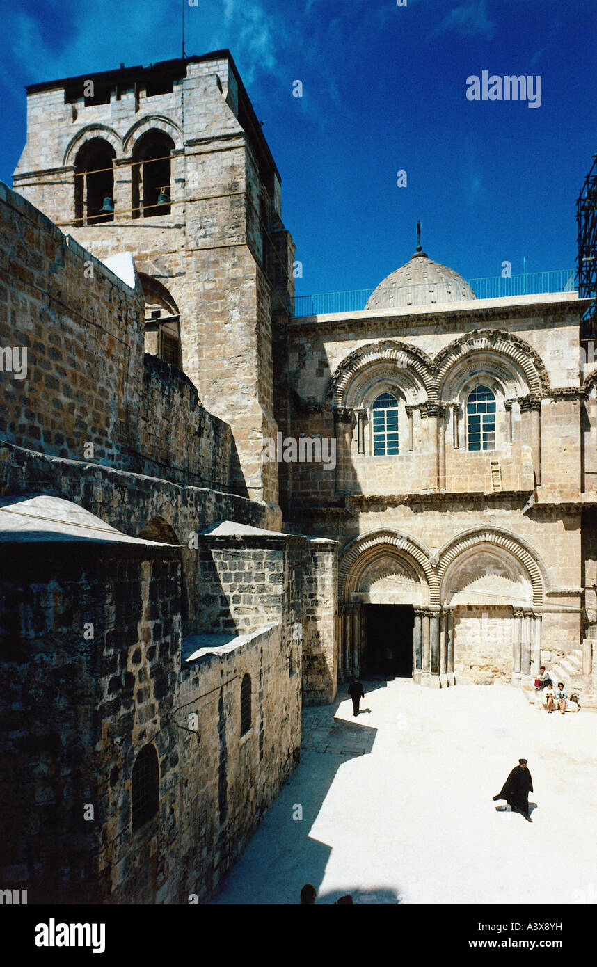 geography / travel, Israel, Jerusalem, Grabeskirche, Church of the Holy Sepulchre, called Church of the Resurrection, - Stock Image
