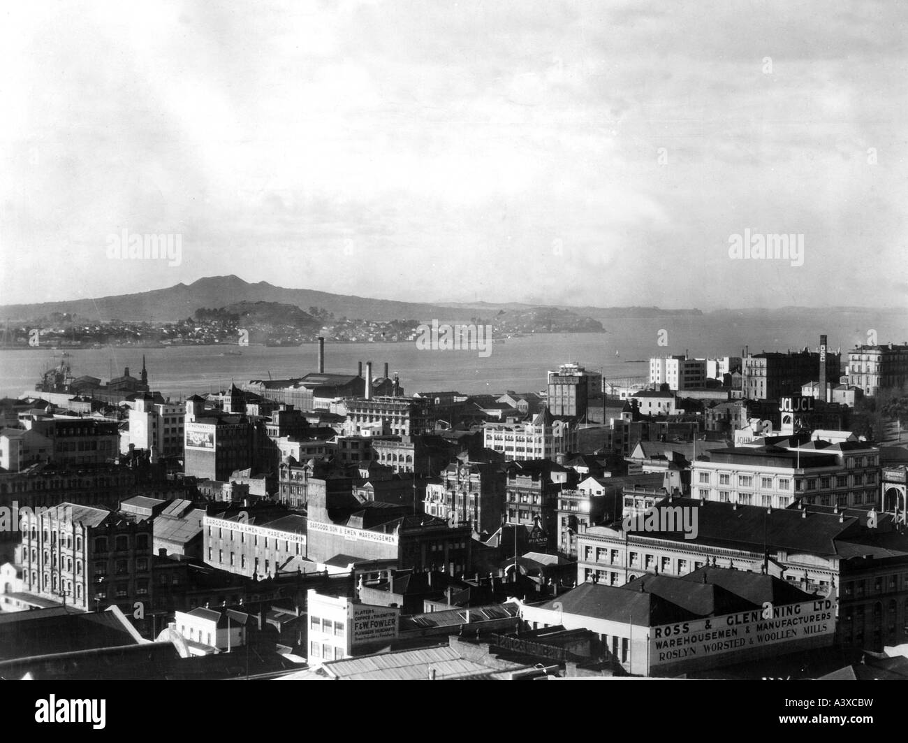geography/travel, New Zealand, Aukland, overview, 1920s, 20s,  North Island, 20th century, , Additional-Rights-Clearances - Stock Image