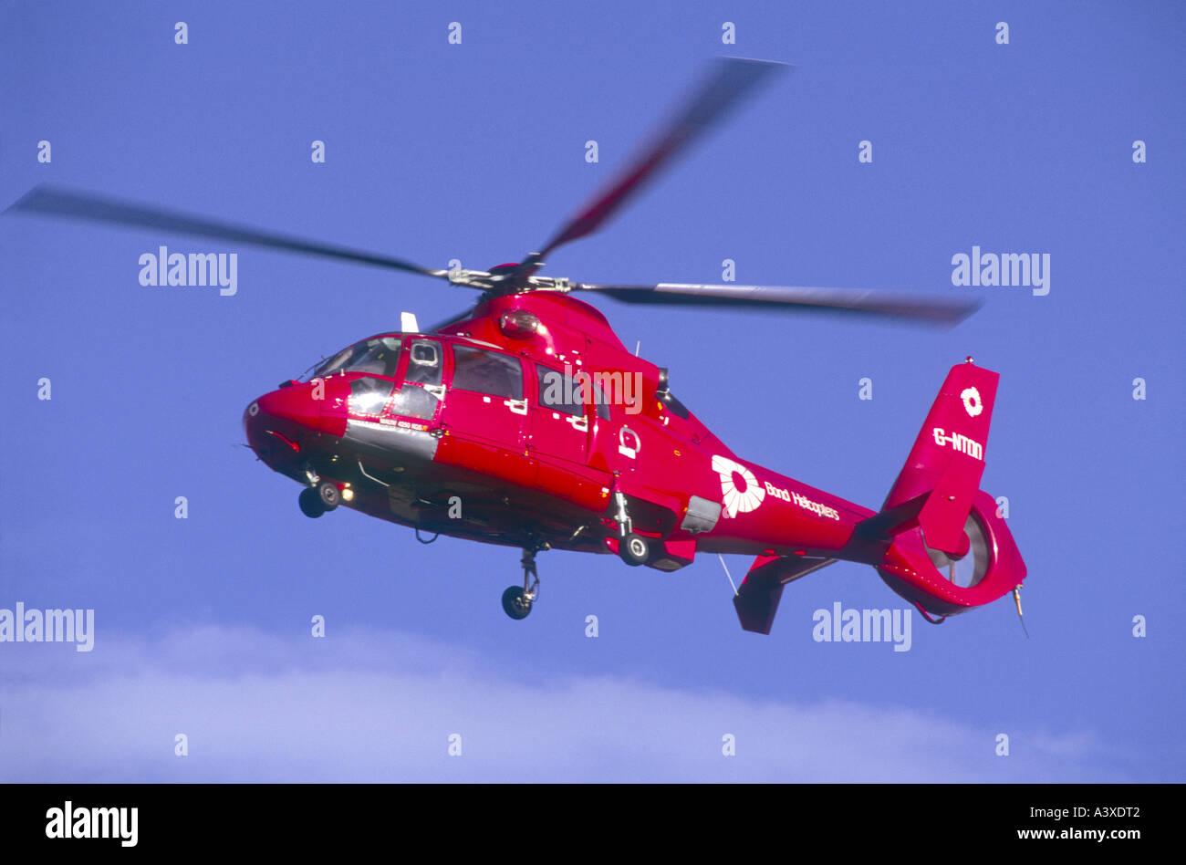 Aerospatiale Dauphine 365 of Bond Helicopters Aberdeen.   GAV 2194-220 - Stock Image
