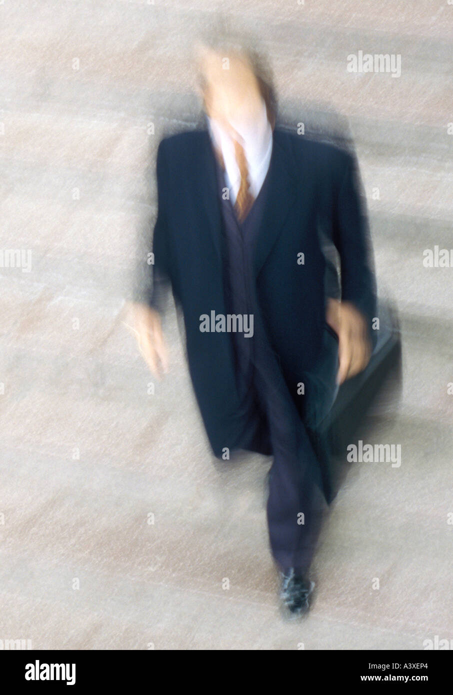 man walking moving fuzziness Stock Photo
