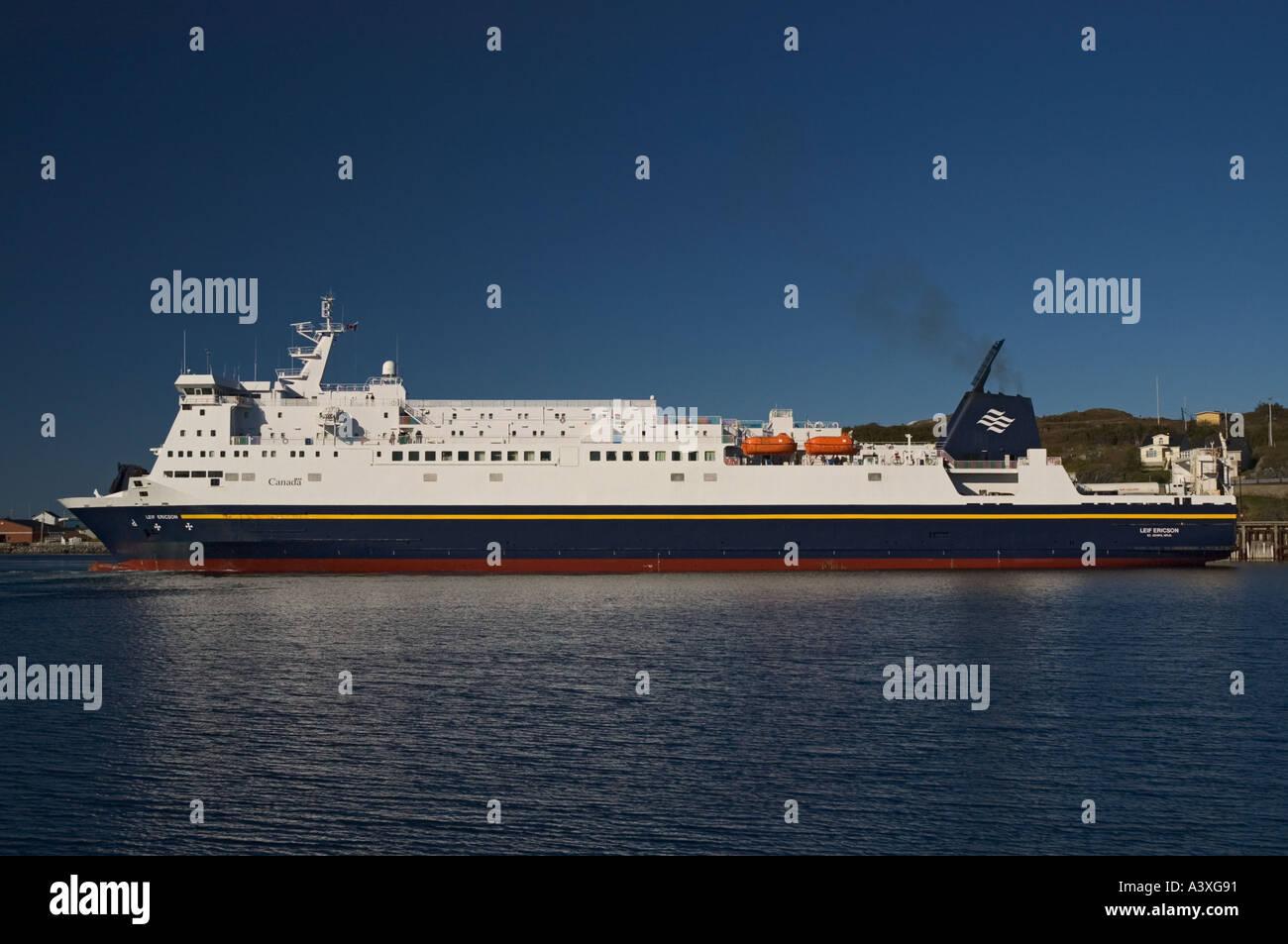 Canada Newfoundland Port Aux Basques ferry to Nova Scotia Stock Photo