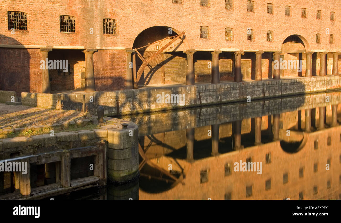Old Tobacco Warehouses at Stanley Dock, Liverpool, Merseyside, England, UK Stock Photo