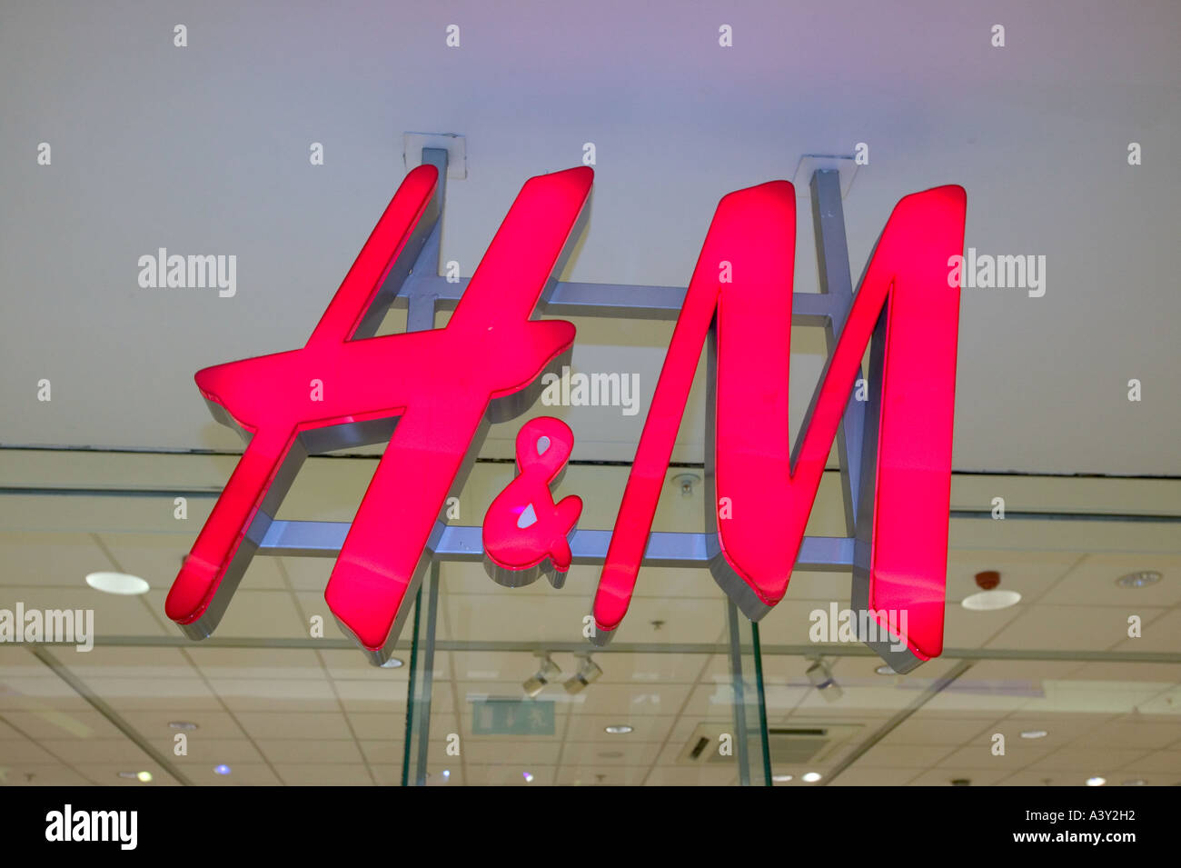 H and M shop in the Lanes Shopping Centre, Carlisle, Cumbria, UK - Stock Image