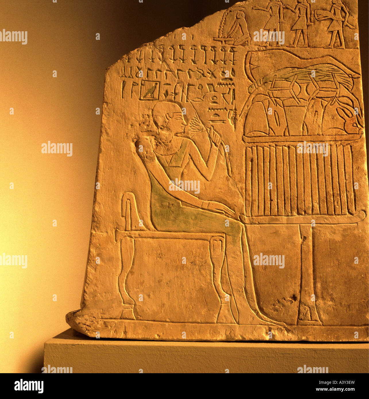 Ancient egypt relief lotus flower stock photos ancient egypt fine arts ancient world egypt old kingdom relief stone tablet mightylinksfo