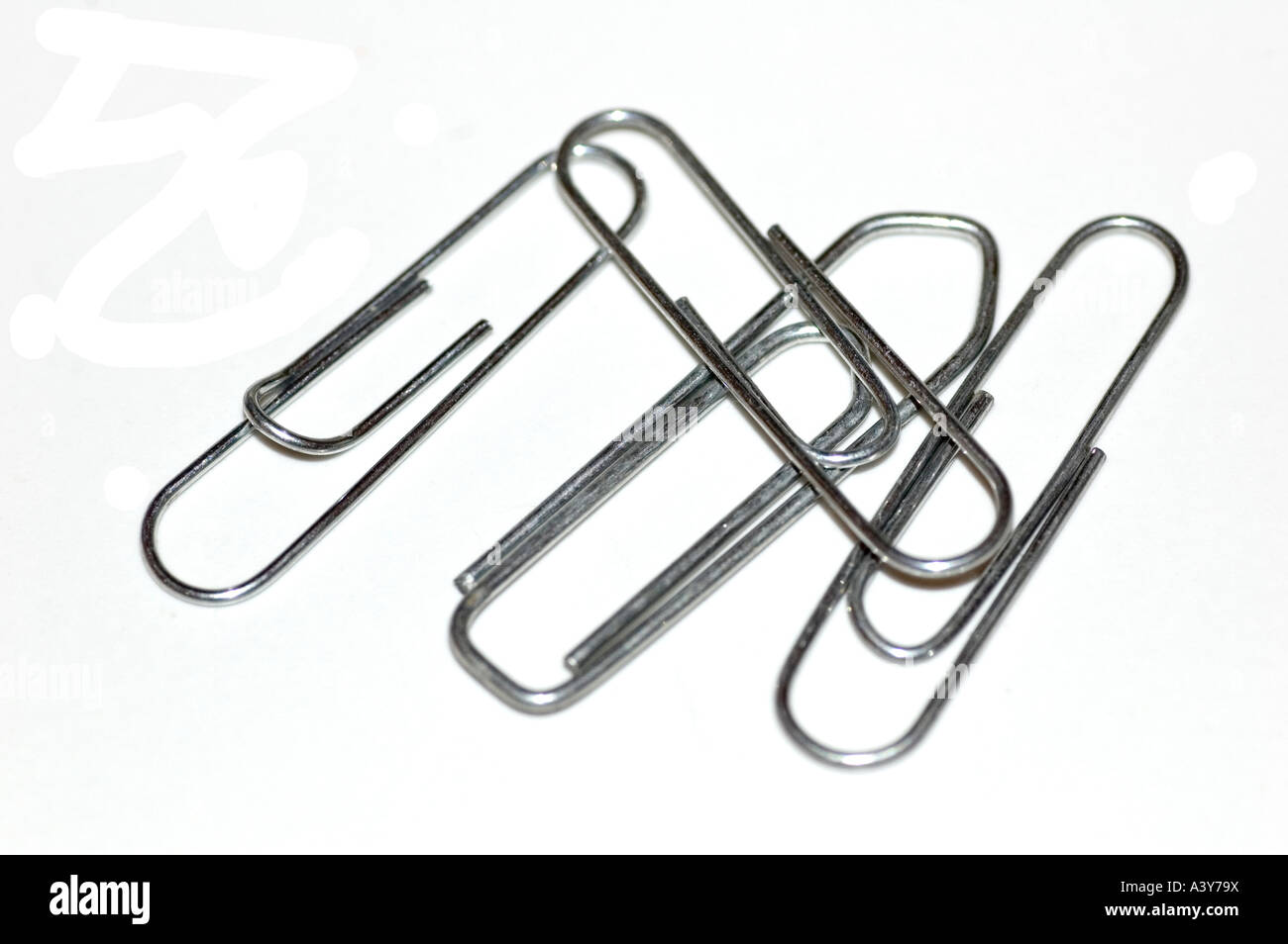 four paper clips cut out stock photo: 10881253 - alamy